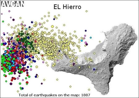 Recent quakes at El Hierro