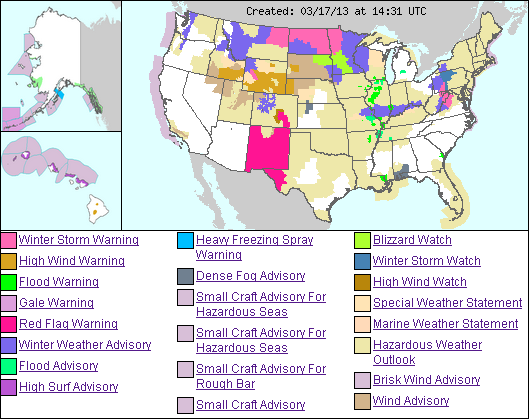 us weather hazmap 17mar2013