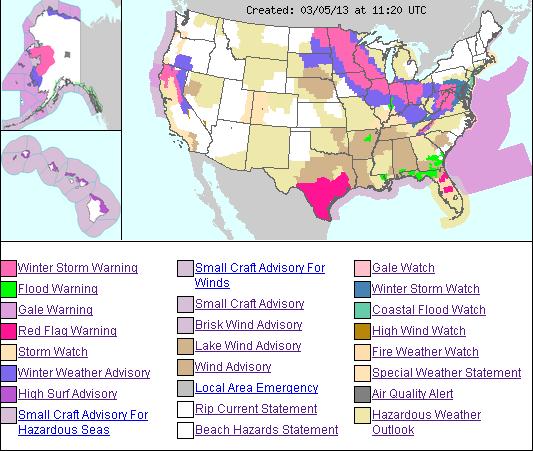 US weather Hazmap 5mar13