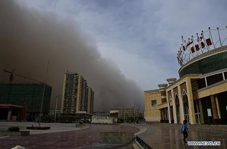 sandstorm over Kashgar