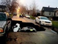 sinkhole in Chicago