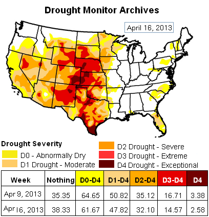 us drought map 16apr2013