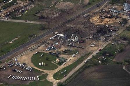 west fertilizer plant afetr explosion