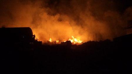 cargo train fire