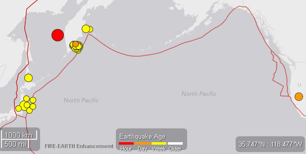 Significant quakes - 24may2013