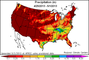 us precipitation map week 25 apr