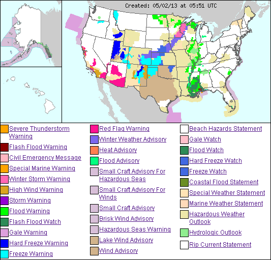 US weather hazmap 2may2013