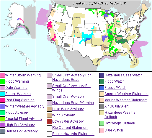 US weather hazmap 4may2013