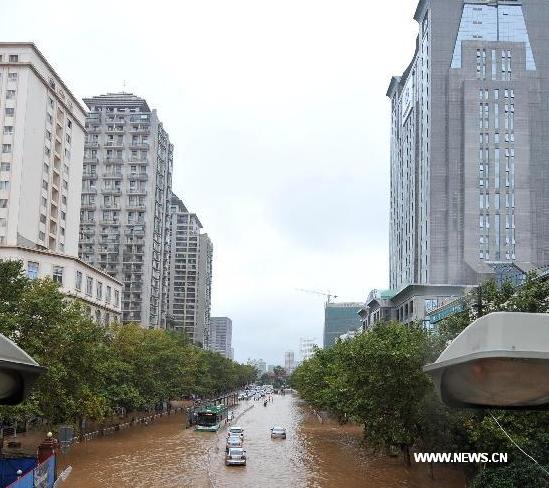 Kunming China flooding