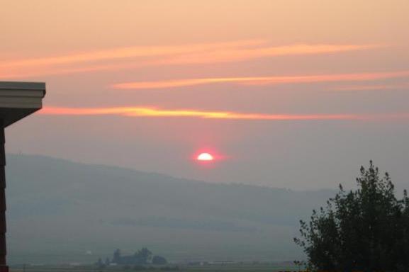 Moose Meadow Smoke Sunset Over Philipsburg