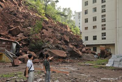 landslide in SW China