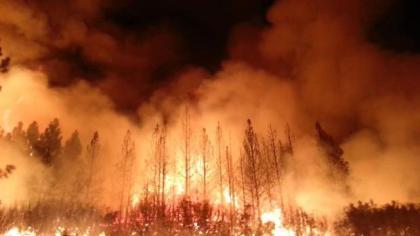Night Photo of The Rim Fire