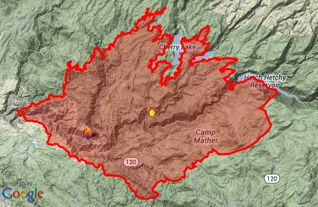 Rim Fire Map Latest