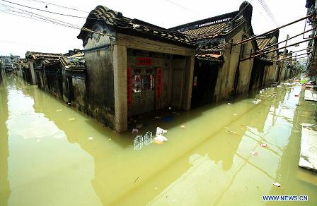 severe floodin in Guangdong