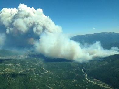 west fork fire growth 1