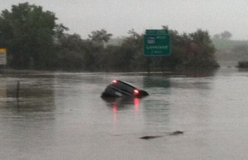 flooding on I-25 near Highway 34