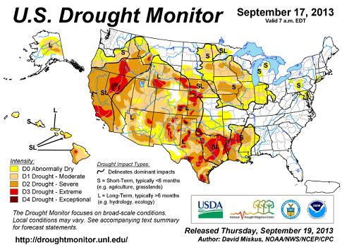 us drought map 17sep13