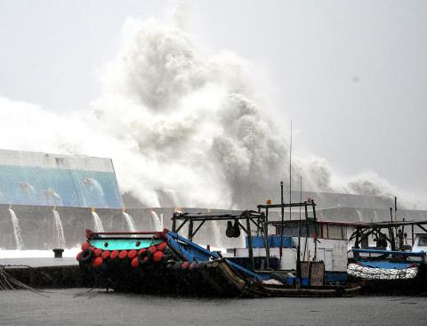 Usagi waves Taitung-Taiwan-CNA