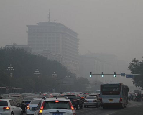 daytime smog beijing 28oct13
