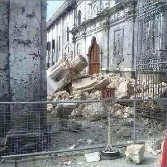 Santo Niño de Cebú RC Church damaged by quake