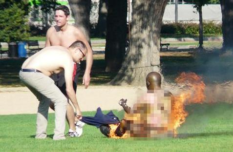 self-immolation at the National Mall -