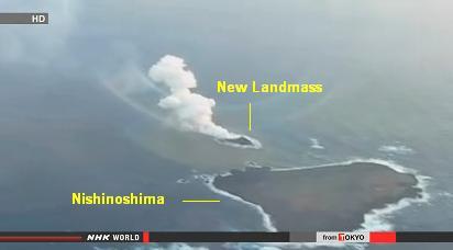new volcanic island