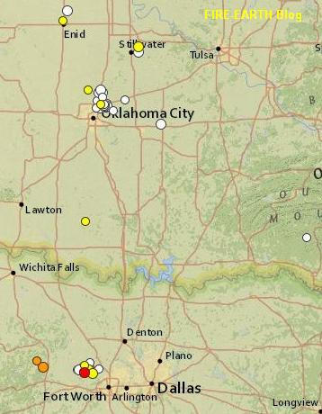 Texas and Oklahoma quakes