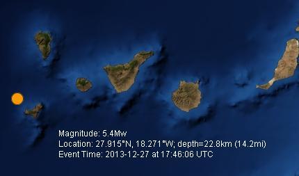 earthquake location map frontera 2013 dec 27