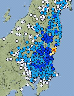 earthquake location map JMA 311213