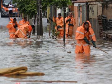 rio flooding AFP
