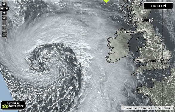 atlantic superstorm image 23 UKMet