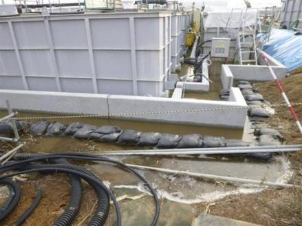 Highly contaminated water leaked from a storage tank in FUKUSHIMA