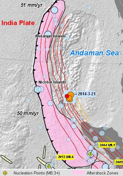 andaman sea quakes 21-3-14