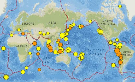 global seismicity