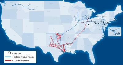 Sunoco Logistics Asset Map