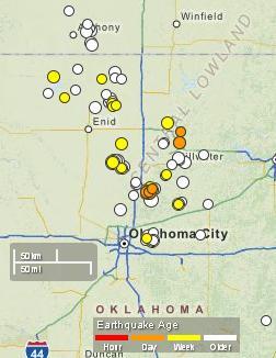 30-day oklahoma quakes