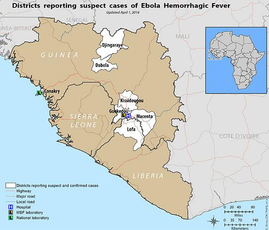 ehf outbreak in west africa