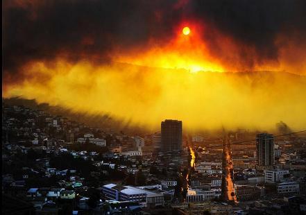 Valparaiso mega fire - local media