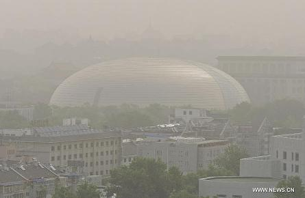 sandstorm hits beijing 27may2014