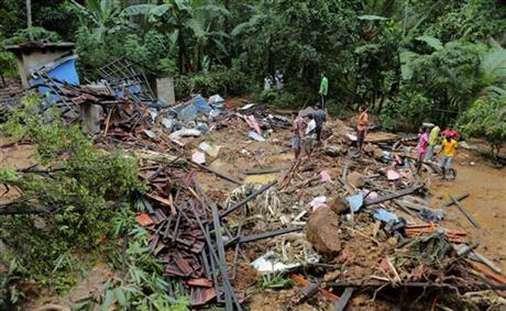sri lanka flood landslide - AP