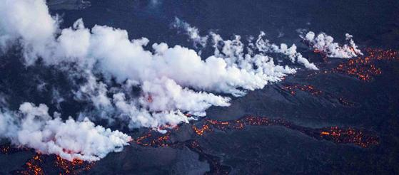 fissure eruption  31aug14- Xinhua photo