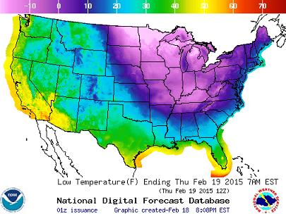 US Temperature Map | Fire Earth