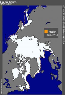 arctic sea max ice 25feb2015