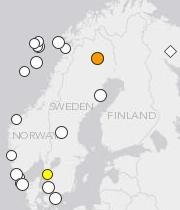 Scandinavia quakes since 2005