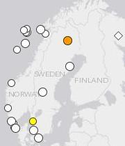 Scandinavia quakes since 2005