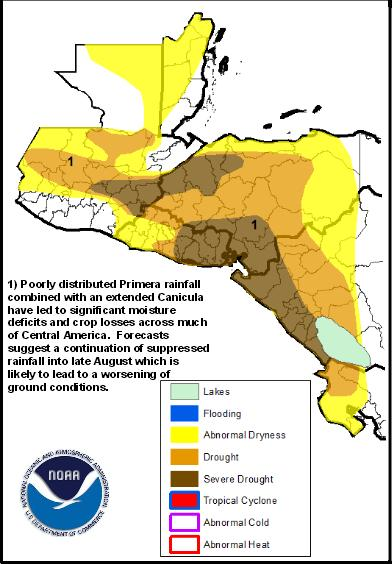 drought central america